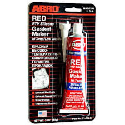 герметик высокотемпиратурный ABRO красный