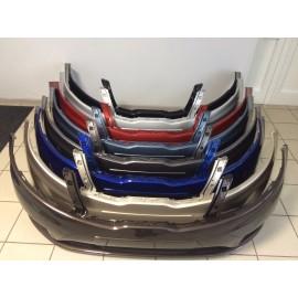 Бампер передний Kia Rio Carbon Gray (угольно черный металик)