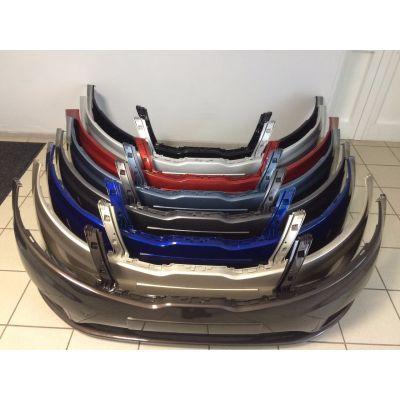 Бампер передний в цвет Kia Rio Carbon Gray (угольно черный металик)