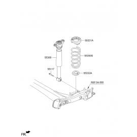 Болт сайлентблока задней балки Hyundai Elantra MD