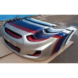 Бампер передний Hyundai Solaris белый PGU