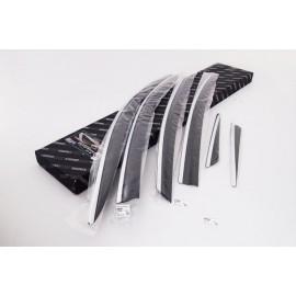 Дефлекторы для окон (c хром. молдингом) Hyundai Sonata VII YF (i45) 20
